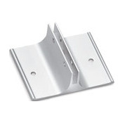 "2"" Wall Bracket for Name Plates in Silver"