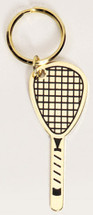 Racquetball Solid Brass Keychain