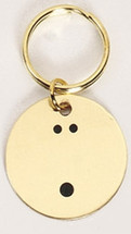 Bowling Ball Solid Brass Keychain