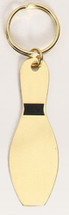 Bowling Pin Solid Brass Keychain