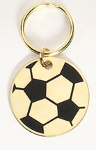 Soccer Solid Brass Keychain