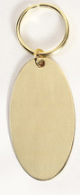 Oval Solid Brass Keychain