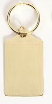 Tablet Solid Brass Keychain