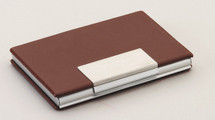 Brown Leather Business Card Case