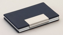 Blue Leather Business Card Case