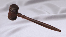 "8"" Walnut Finish Ladies Gavel"