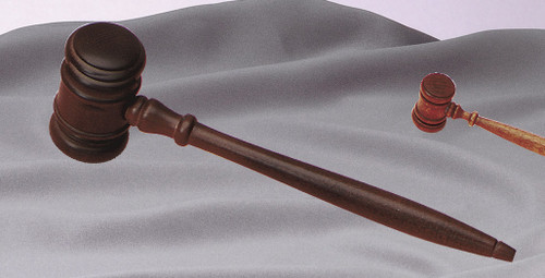 "10.5"" Walnut Finish Mens Gavel"