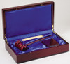 "10"" Gavel in Rosewood Display Box"