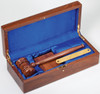 "10"" Gavel in Walnut Piano Finish Box"