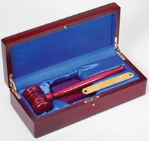 "10"" Gavel in Rosewood Piano Finish Box"