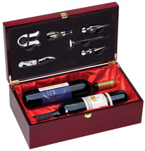 Rosewood Piano Finish Wine Presentation Box with Tools