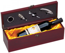 Rosewood Single Wine Holder with Yellow satin