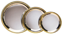 Silver Trays with Gold Border