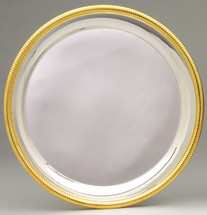 Silver Plated Plate with Gold Border