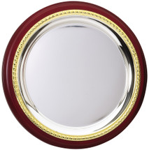 Silver Plated Plate with Rosewood
