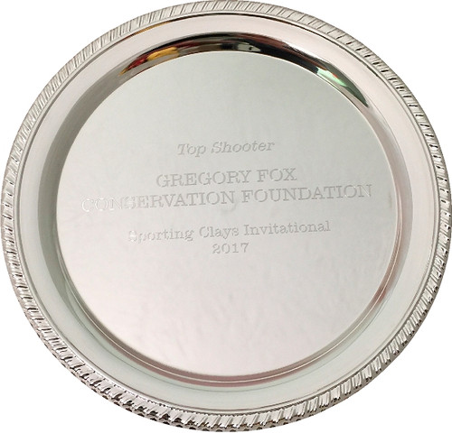 Personalized Engraved Silver Plated Plates