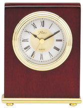 Rosewood Piano Finish Clock with Gold Tone