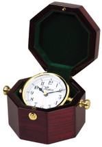 Rosewood Piano Finish Octagon Clock with Gold Tone