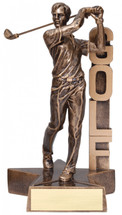 golf resin trophy