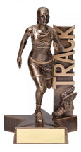 track female resin trophy