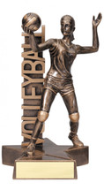 volleyball female resin trophy