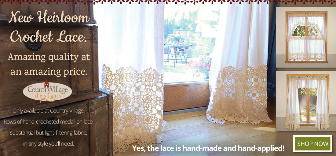 New Heirloom Crochet Lace - a Country Village Exclusive Design!