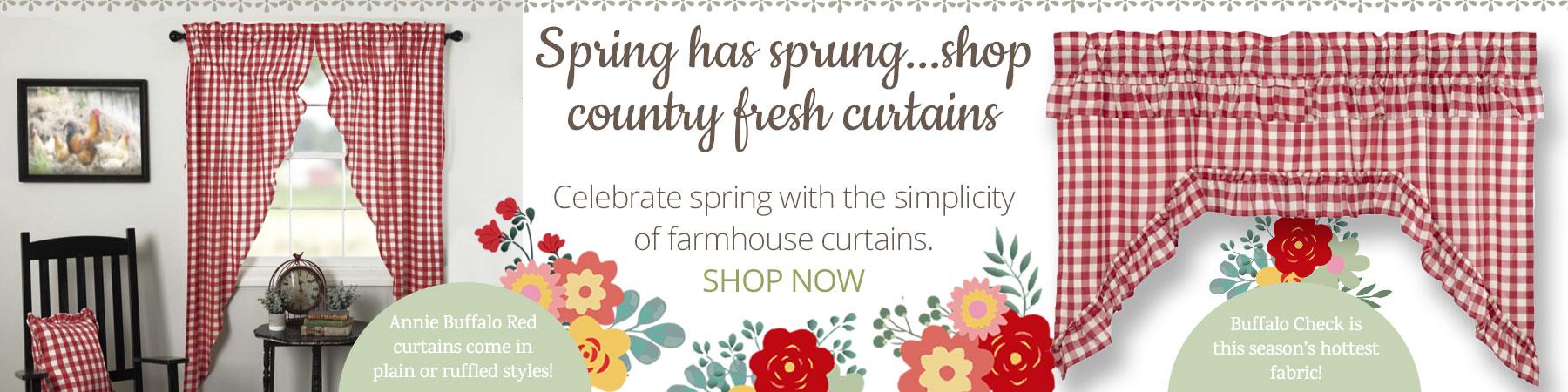 Farmhouse style Annie Buffalo Country Curtains