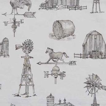 Farm Memories curtain swatch