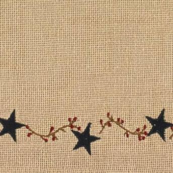 Primitive Burlap Star layered valance