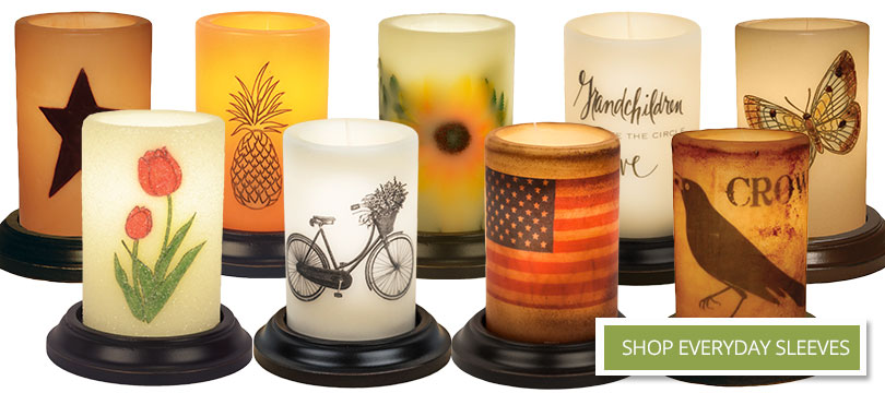 Candle Sleeves | Primitive Candle Sleeves | Electric Candle | primitive candle sleeves