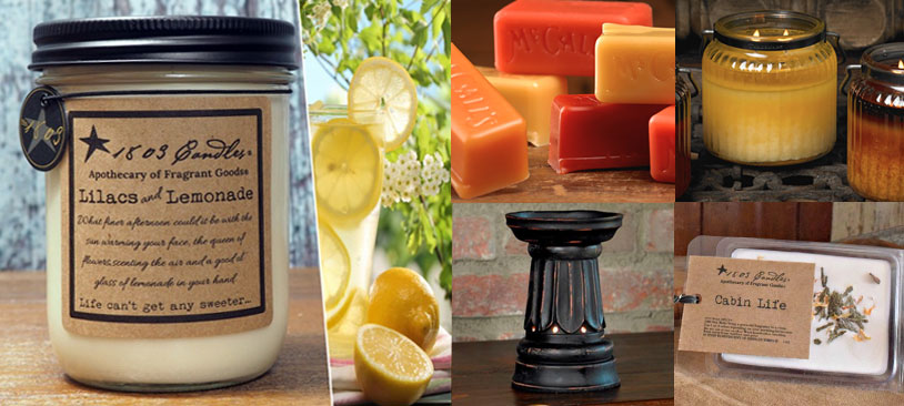 candles and scents for country decor