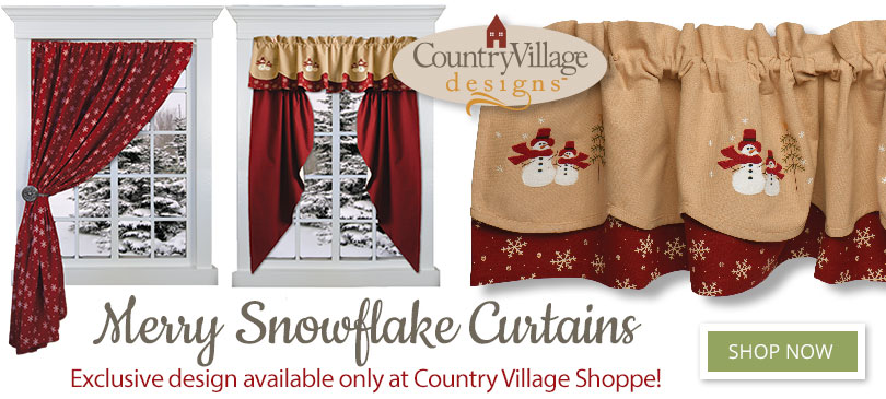 Merry Snowflake Exclusive Design country curtains image