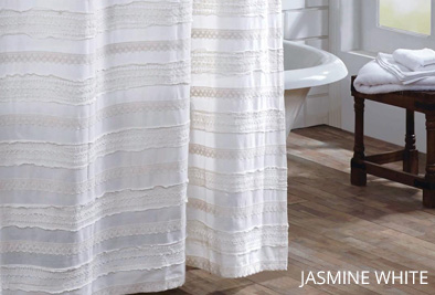 jasmine white shower curtain