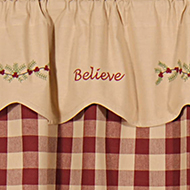 Exclusive Believe Shower Curtain and Valance