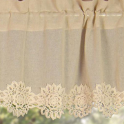 country village exclusive heirloom crochet lace valance