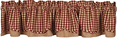 Heritage House Check Farmhouse Layered Valance