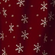 Merry Snowflake Shower Curtain