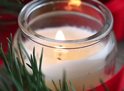 winter and holiday candles and scents