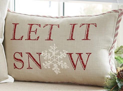 Christmas Decor Let It Snow pillow