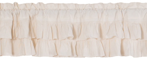 Simple Life Flax Antique White Valance