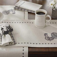 Folk Rooster table setting