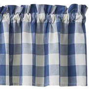 Wicklow Blue Check valance