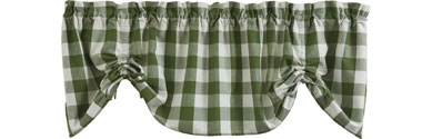 Wicklow Check Sage Farmhouse Valance