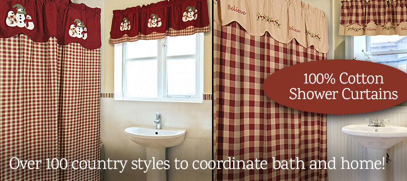 100 percent cotton shower curtains Frosty Friends and Believe exclusive styles