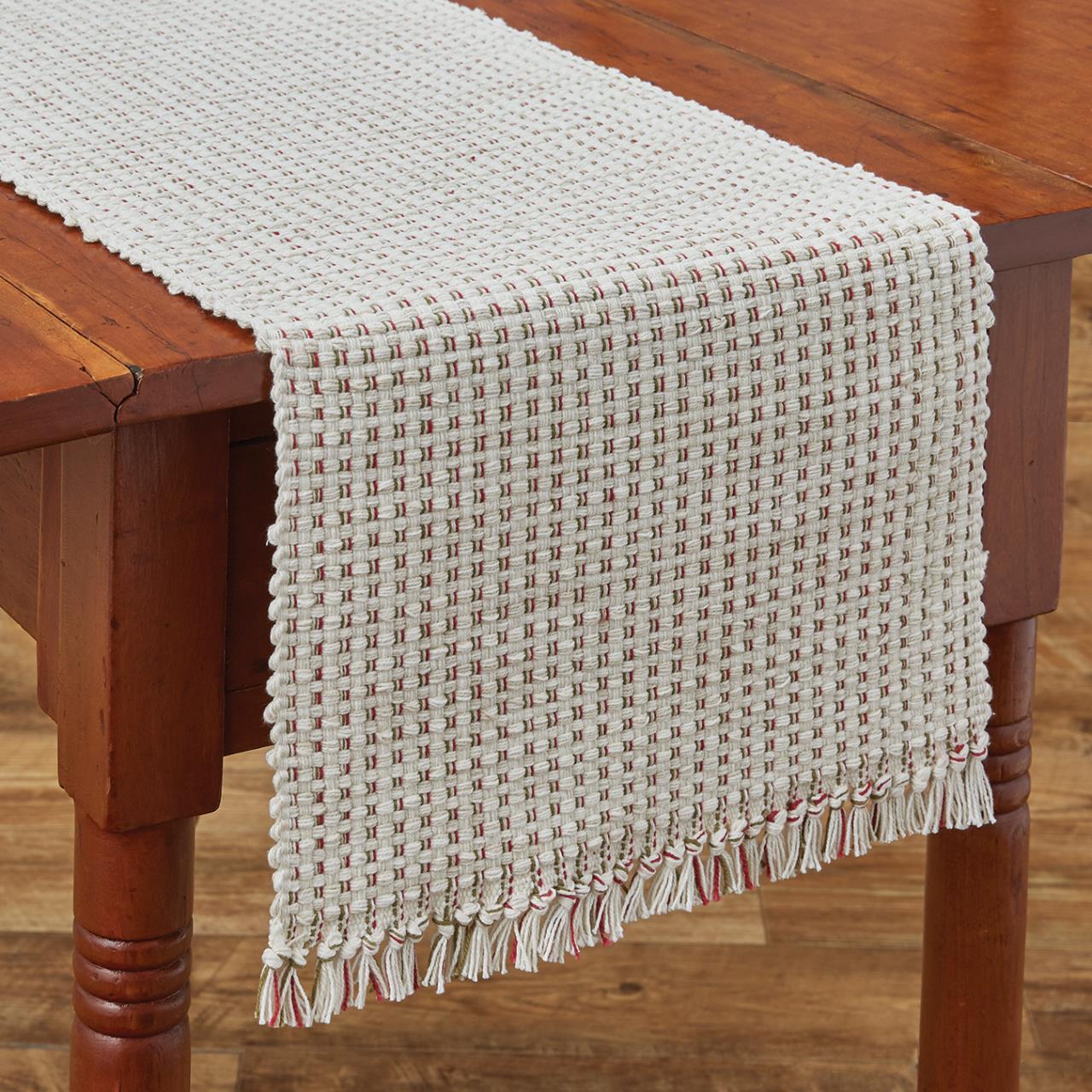 Basketweave Sprig Table Runner - 13x54 - 762242002210