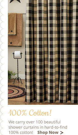 Country Shower Curtains Primitive Country Burlap