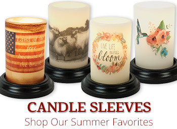 Summer Candle Sleeves