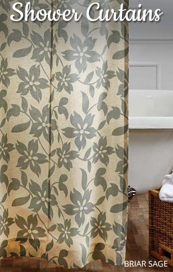 Shop 100% Cotton Shower Curtains-Briar Sage
