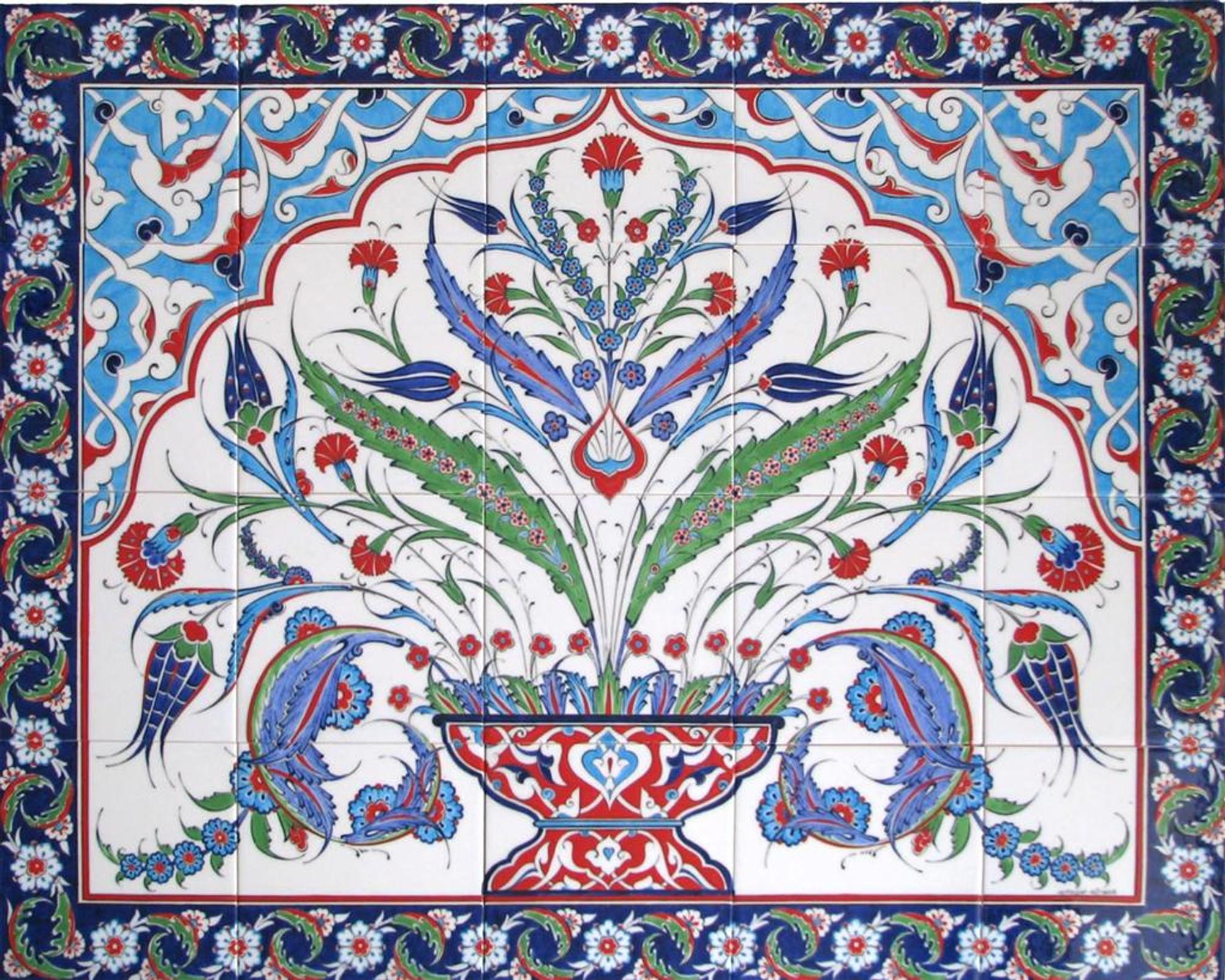hand painted iznik turkish tiles and tile panels quick shop 100x80cm fountainhead ceramic tile mural backsplash