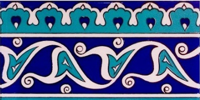 "Border Tile for wall 10x20cm (4x8"")"